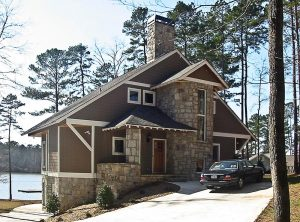 Georgia Lake House designed by Atlanta Architect Daniel Martin on the Oconee Lake front elevation
