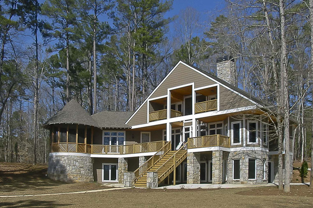 Georgia Residential Architecture on Lake Oconee rear elevation