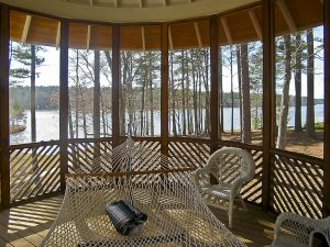 Georgia Lake House designed by Atlanta Architect Daniel Martin on the Oconee Lake view from gazebo