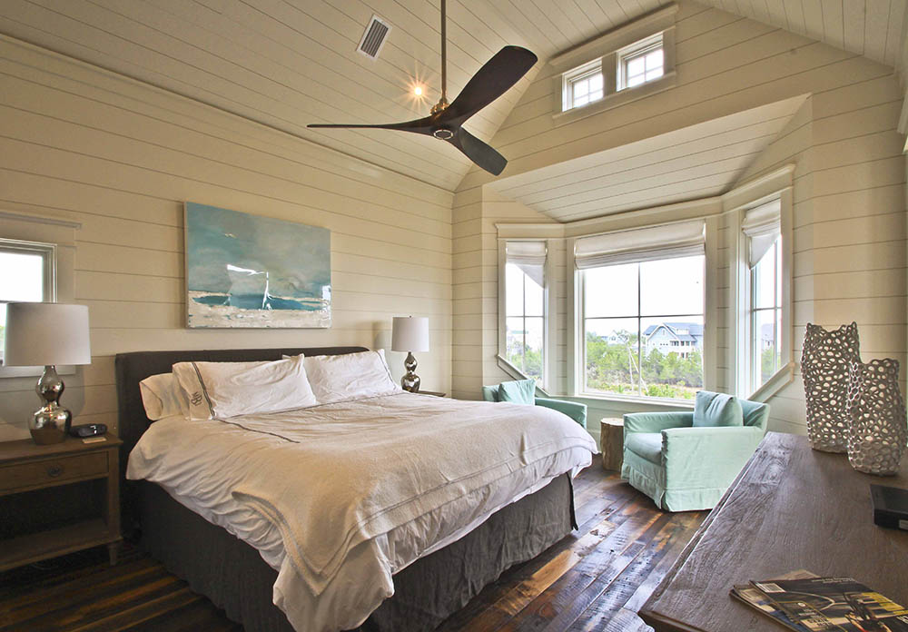Residential House Architecture interior design bedroom in Watersound Florida Panhandle